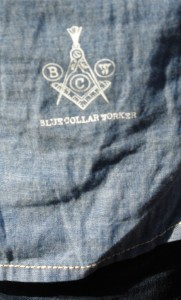 Blue Collar Workers shirt detail 1