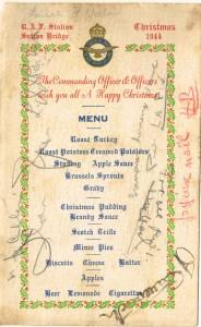 Christmas menu at RAF Sutton Bridge 1944 001