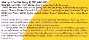 James Brown Sex Machine caption