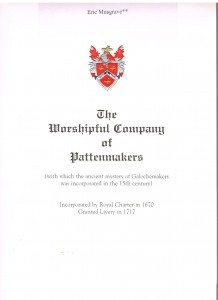 Pattenmakers cover 001
